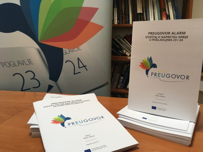Coalition prEUgovor Report on Progress of Serbia in Chapters 23 and 24 - April 2017