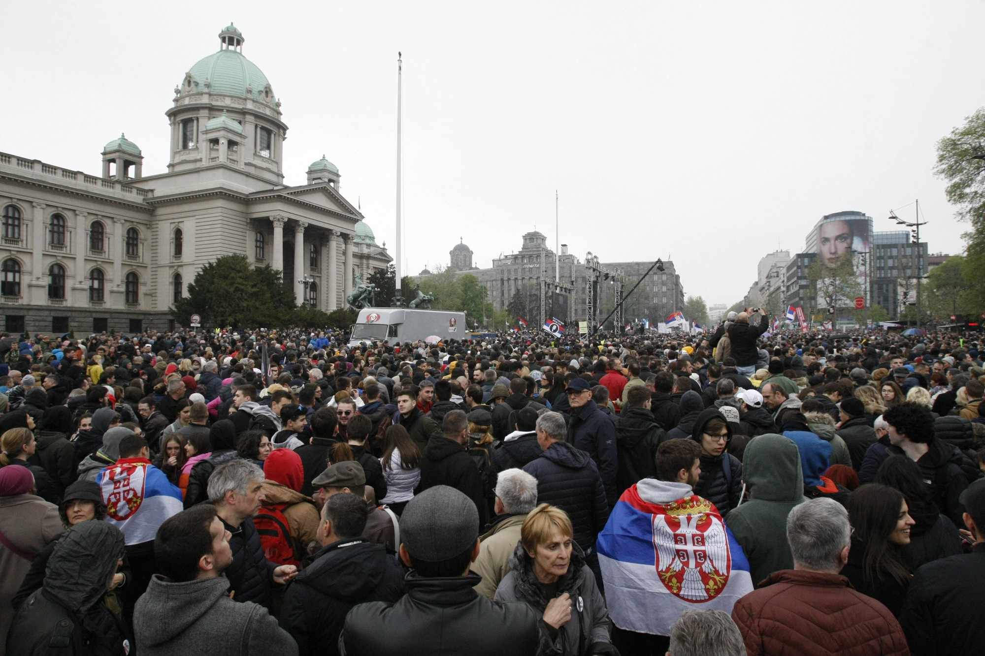Photo: The All as One – One of the Five Million protest rally, April 13; Photo: Beta/Emil Vaš